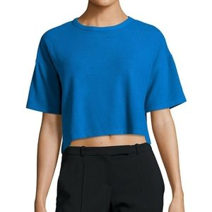NWT peace love world comfy crew cropped top
